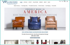 Fine Leather Furniture by HawkFeather Web Design